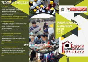Contoh Desain Brosur Jurusan Arsitek Universitas Um Surabaya